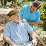 a hospice care provider and an elderly patient
