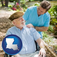 la a hospice care provider and an elderly patient