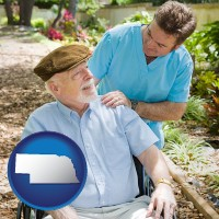 ne a hospice care provider and an elderly patient