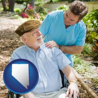 nv a hospice care provider and an elderly patient