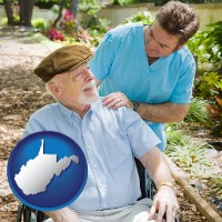wv a hospice care provider and an elderly patient